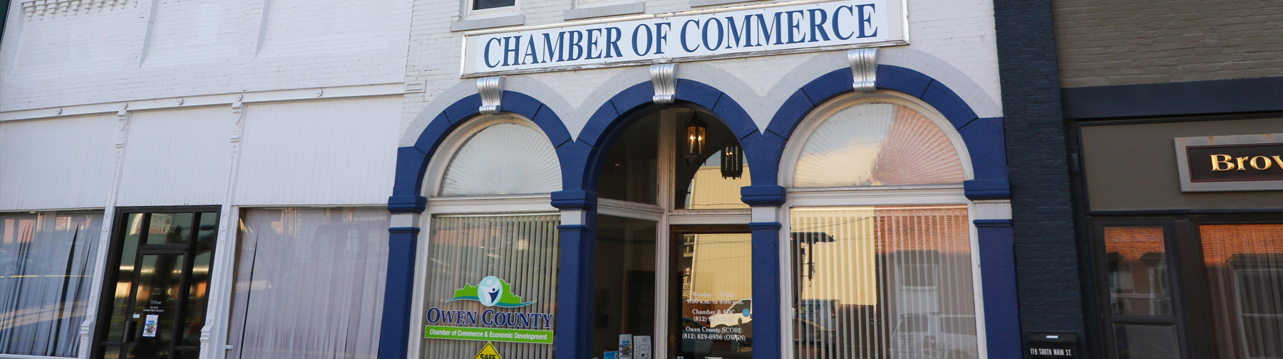 local Chamber of Commerce building